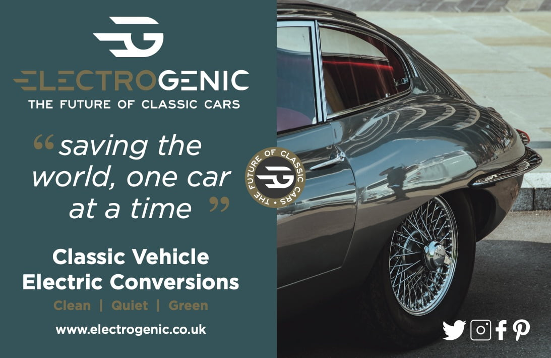 Electrogenic electric classic car advert