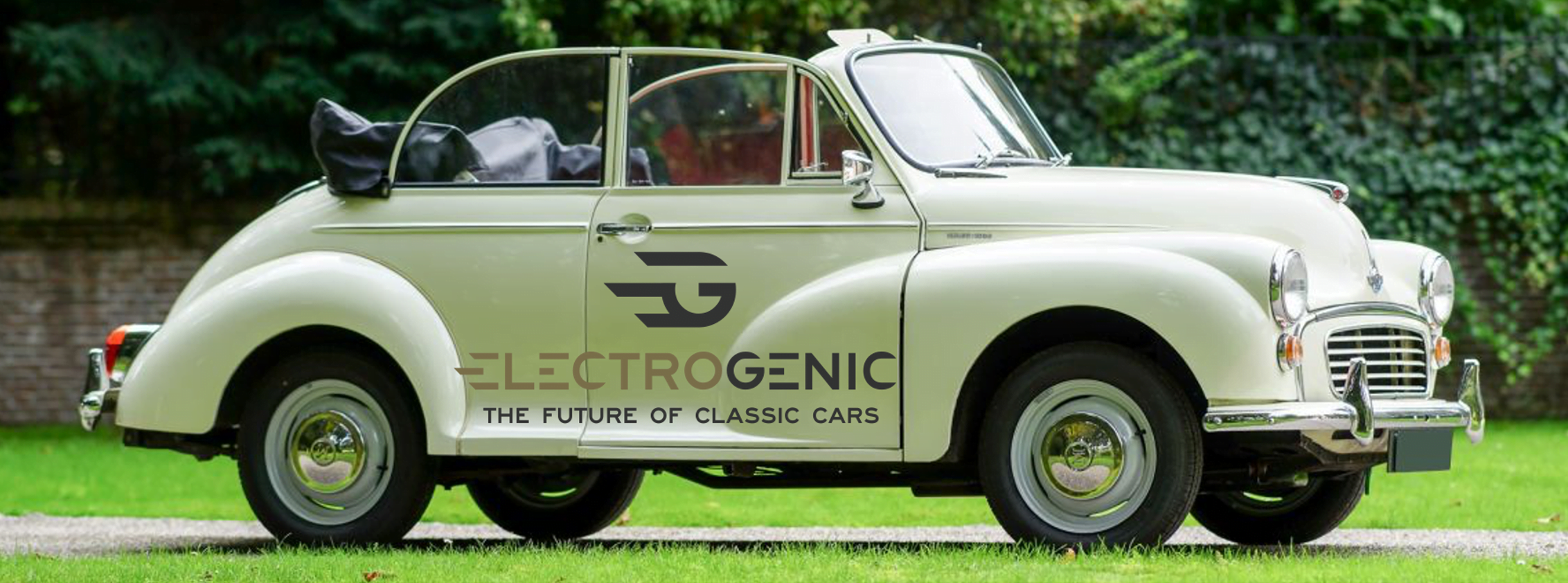 Morris Minor Electrogenic banner