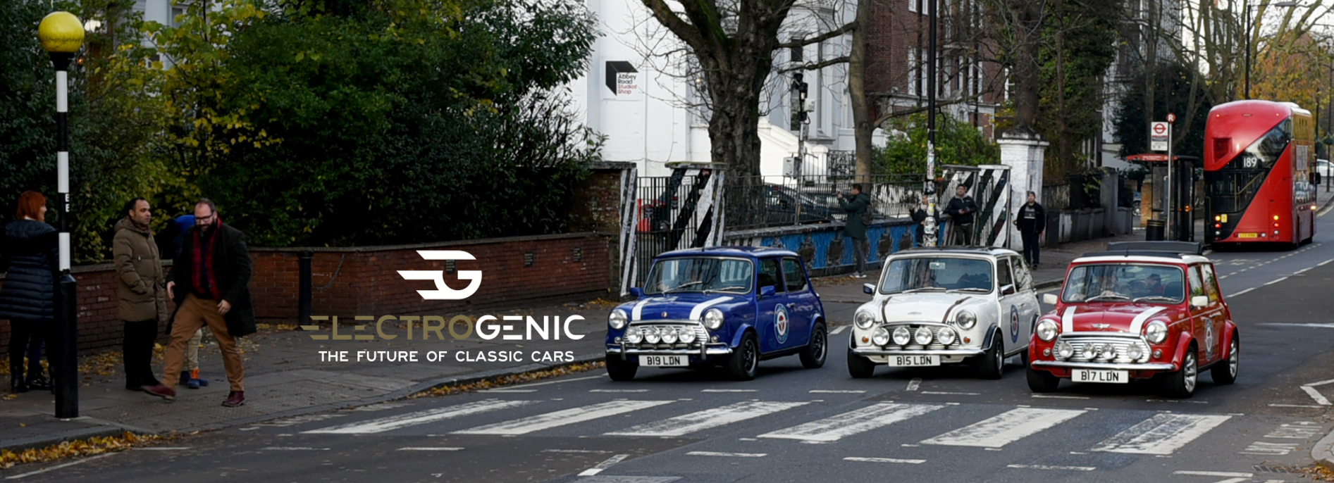 Classic Minis on Abby Road in London